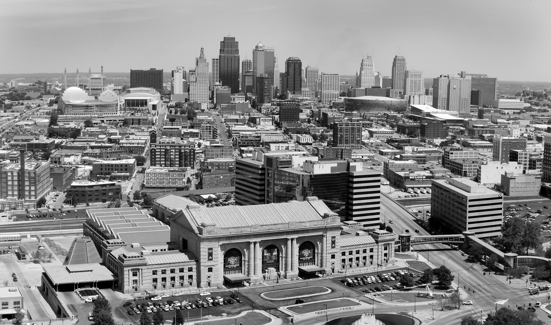 Kansas City View Black White